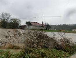 Slika 1: Poplavljanje Homšnice, 2012