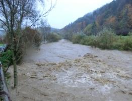 Slika 3: Poplavljanje Mislinje, Pameče, 2012