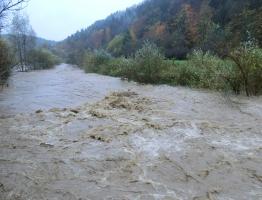 Slika 5: Poplavljanje Mislinje, Pameče, 2012