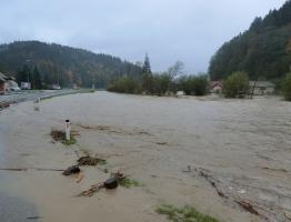 Slika 11: Mislinja, Pameče - poplava 2012