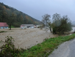 Slika 14: Mislinja, Pameče - poplava 2012